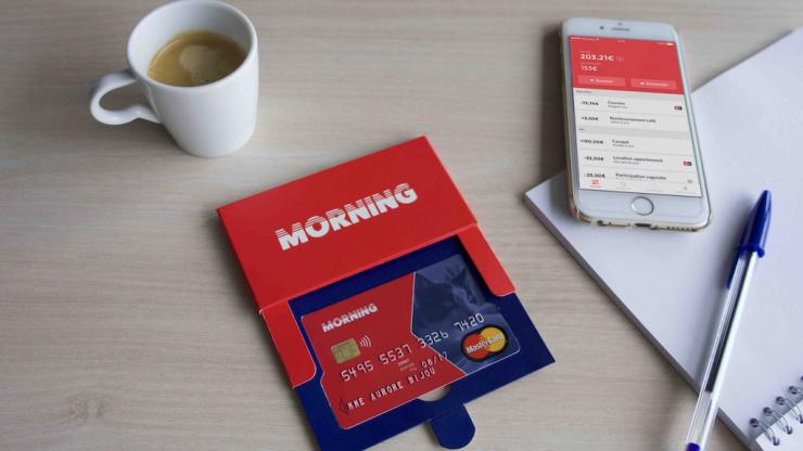 Carte bancaire et application Morning