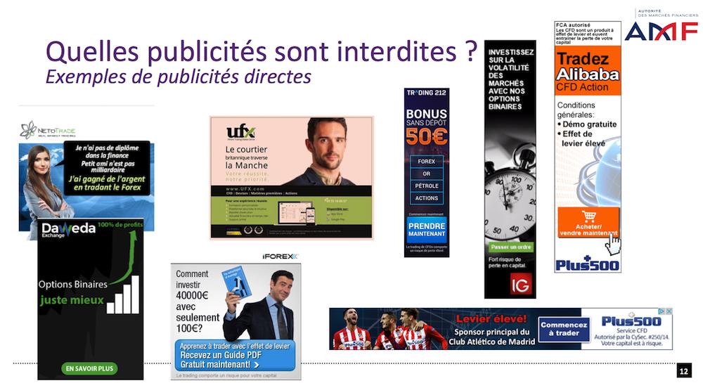 AMF publicités Forex