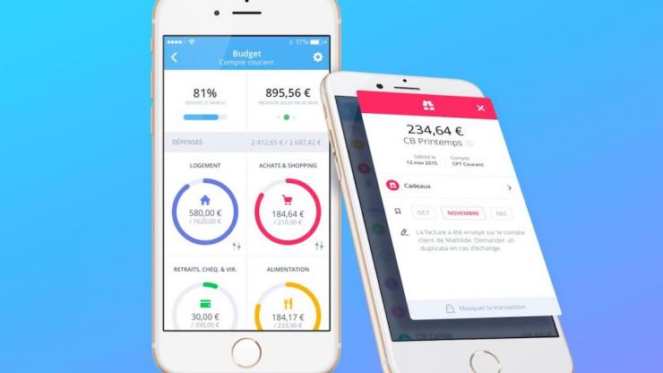 Application Bankin' sur iPhone