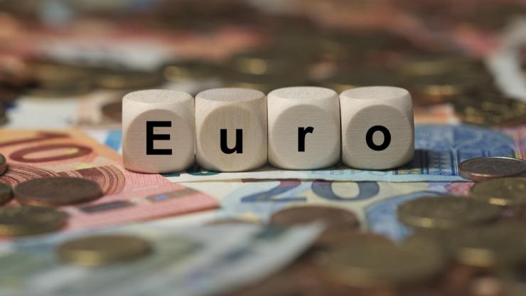 Des dés représentant un euro