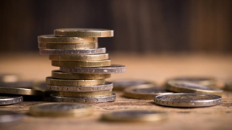Des pièces d'euro