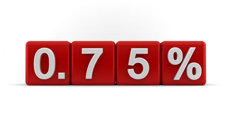 Pourcentage de 0,75%