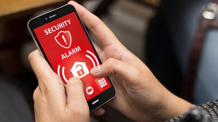 Alerte de sécurité sur un smartphone