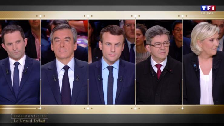 Capture d'écran du débat présidentiel