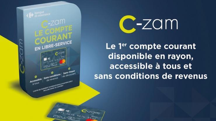 Présentation du compte C-zam de Carrefour Banque