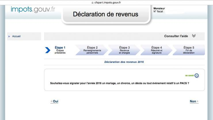 Déclaration revenus 2017