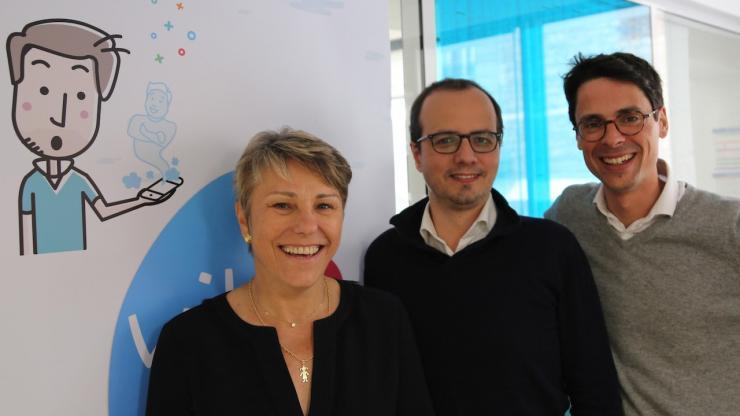 Anne-Claude Pont, Philippe Breuils et Pierre Stanislas, co-fondateurs de wilov