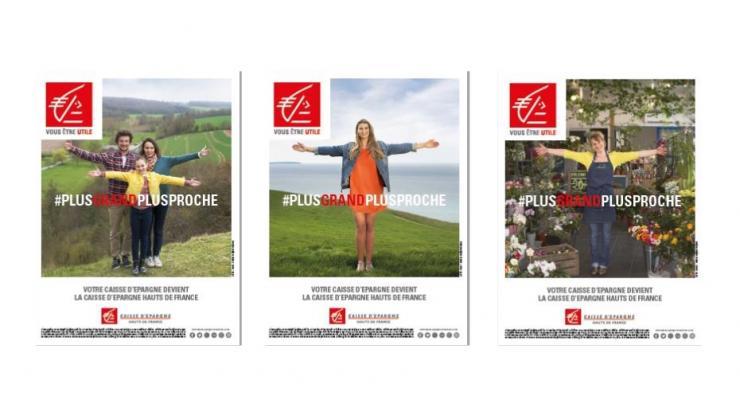 Affiches publicitaires Caisse d'Epargne Hauts de France
