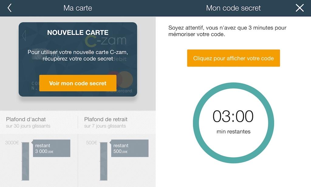 Application C-zam de Carrefour Banque