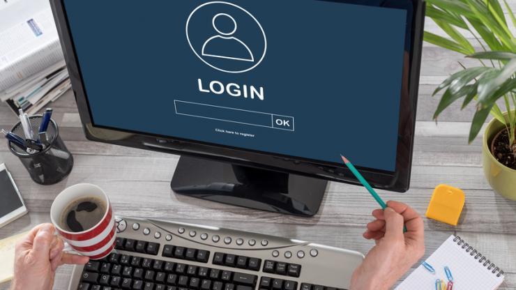 Connexion sécurisée sur un ordinateur