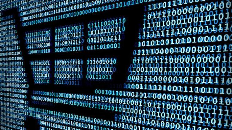 Un chariot et du code informatique