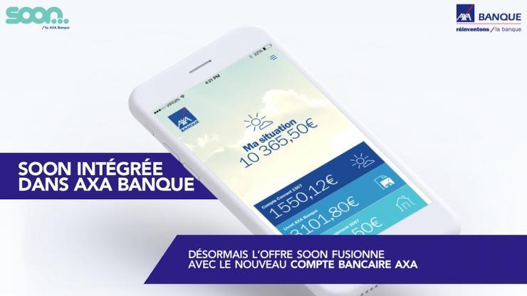 Capture d'écran intégration Soon - compte bancaire Axa