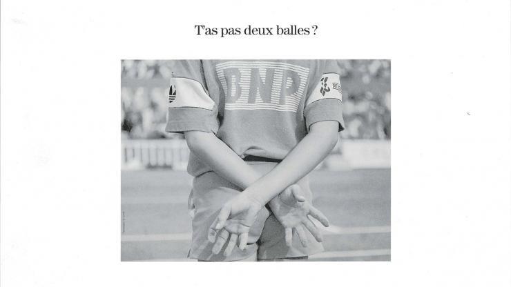 Publicité tennis de BNP Paribas