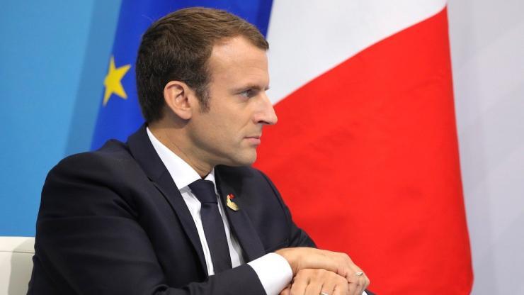 Emmanuel Macron en Russie en 2017