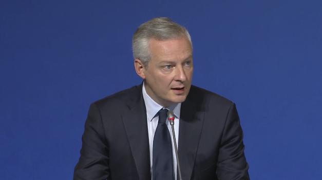 Le Maire lors de la présentation PLF2018
