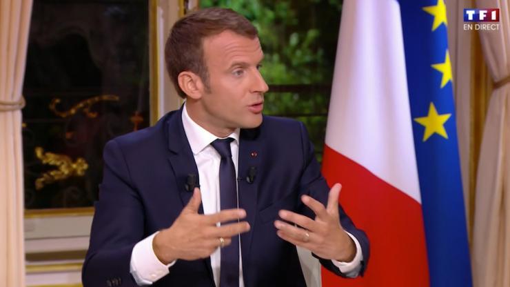 Macron sur TF1 en 2017