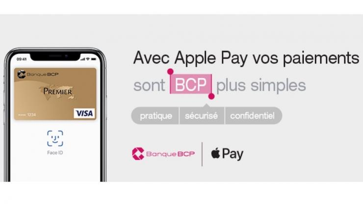 Publicité Apple Pay chez Banque BCP