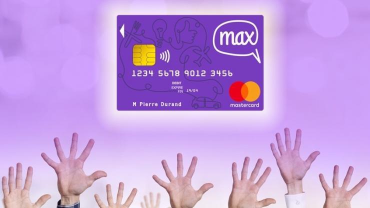 Publicité pour la carte de paiement Max