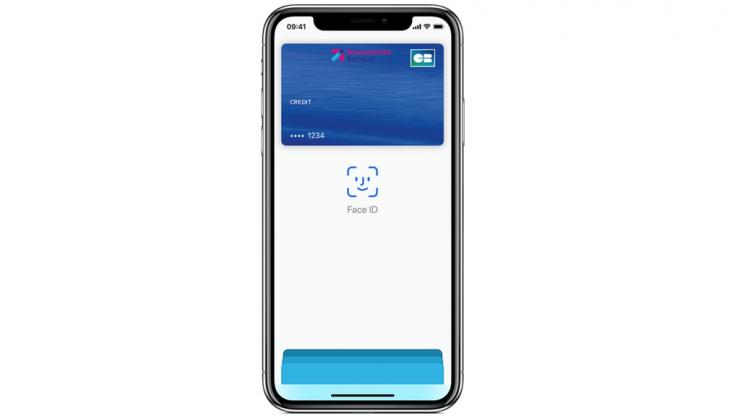 Carte Boursorama dans l'application Apple Pay d'un iPhone X