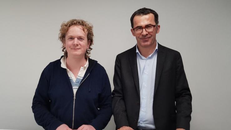 Benoît Liénart et Nicolas Pelletier, co-fondateurs de Pledg