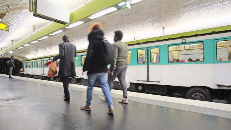 Station de métro à Paris en 2016