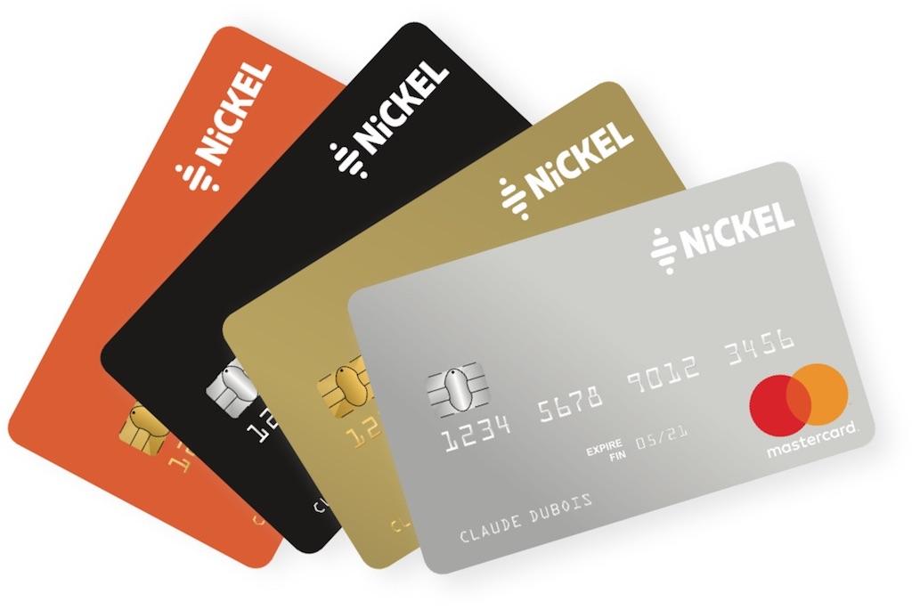 Gamme des cartes bancaires Nickel et Nickel Chrome