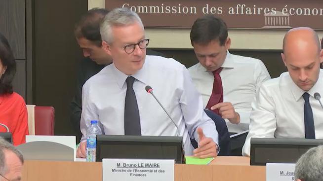 Bruno Le Maire à l'Assemblée nationale