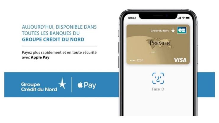 Annonce Apple Pay au Crédit du Nord