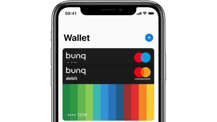 Carte Bunq dans Wallet iPhone
