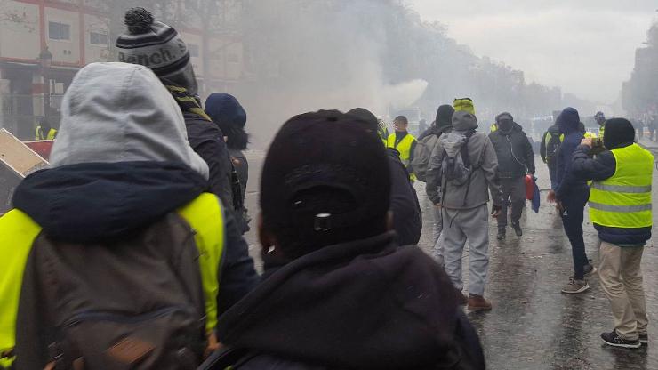 Manifestation des gilets jaunes, Champs-Elysées, novembre 2018