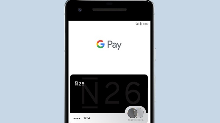 Carte bancaire N26 dans Google Pay