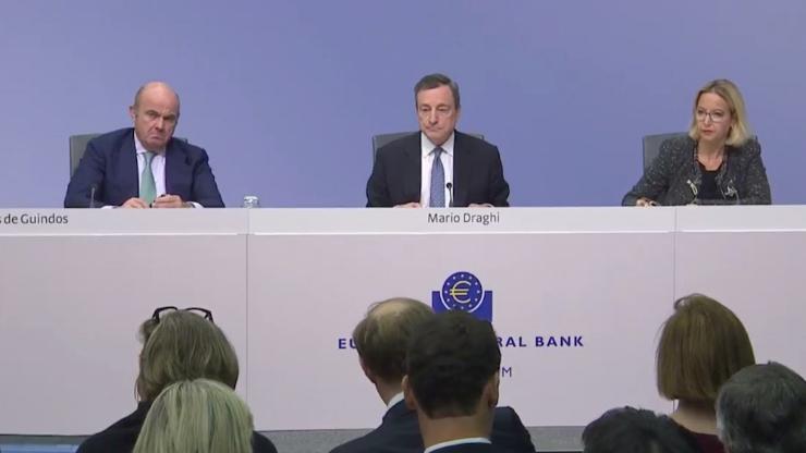 Mario Draghi en décembre 2018