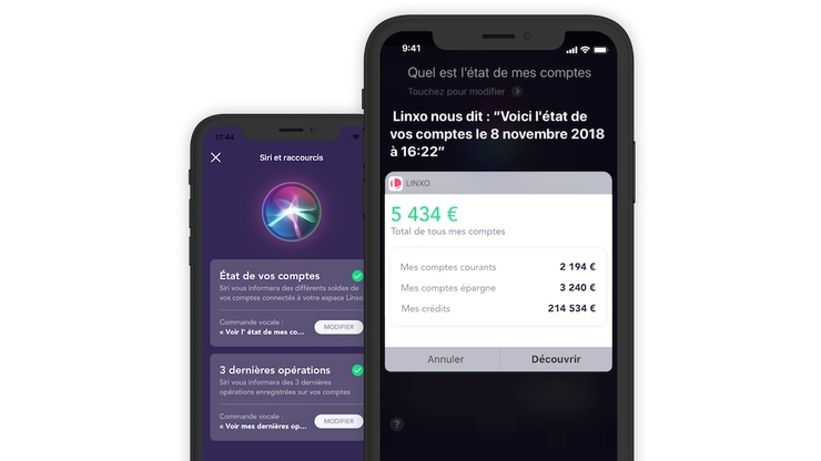 Application Linxo sur iPhone X