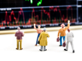 Bourse et figurines