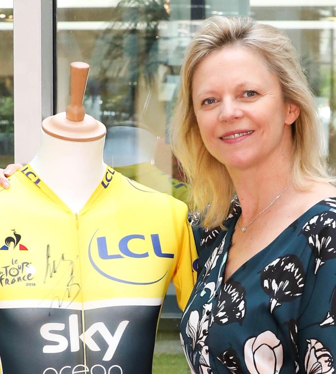 Caroline Arnould, directrice de la communication et du sponsoring de LCL