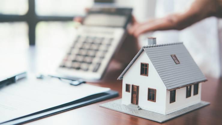 maison, assurance, calculatrice, crédit, assurance habitation, logement, habitation