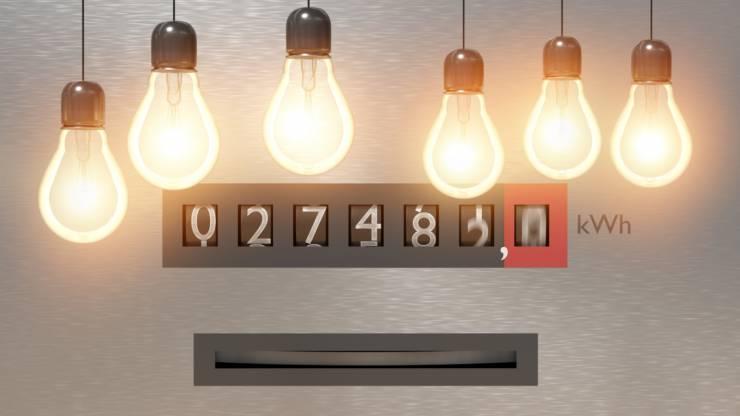 Compteur d'électricité et ampoules