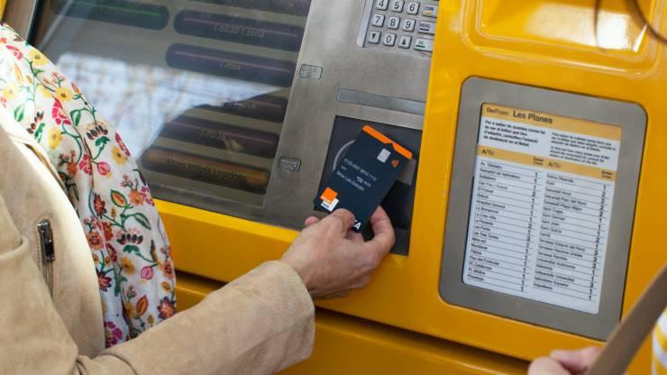 Paiement sur un automate avec une carte Orange Bank