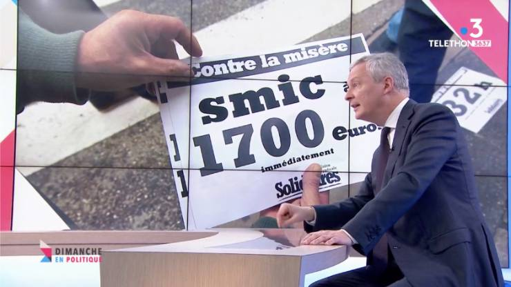 Illustration Smic et Bruno Le Maire