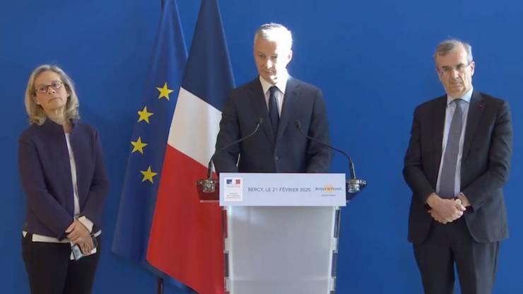 Conférence de presse de Bruno Le Maire en 2020