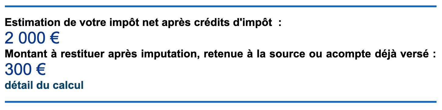 Solde impôt déclaration