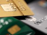 Cartes bancaires en gros plan