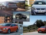 Photomontage des voitures les plus chères à assurer (Clio IV, BMW X6, Tesla X, Polo et Seat Alhmabra)