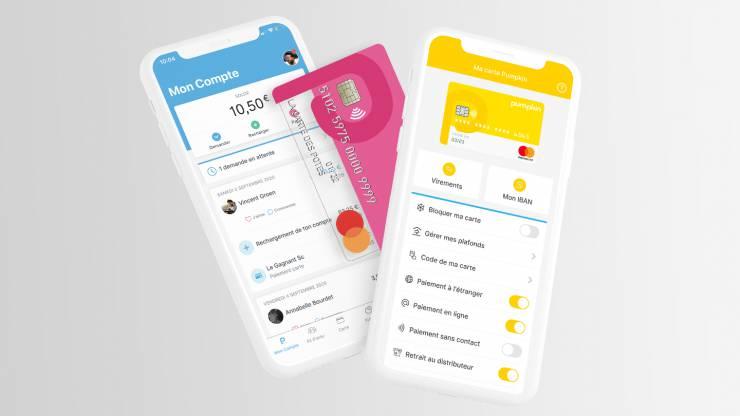 Application mobile et carte bancaire Pumpkin