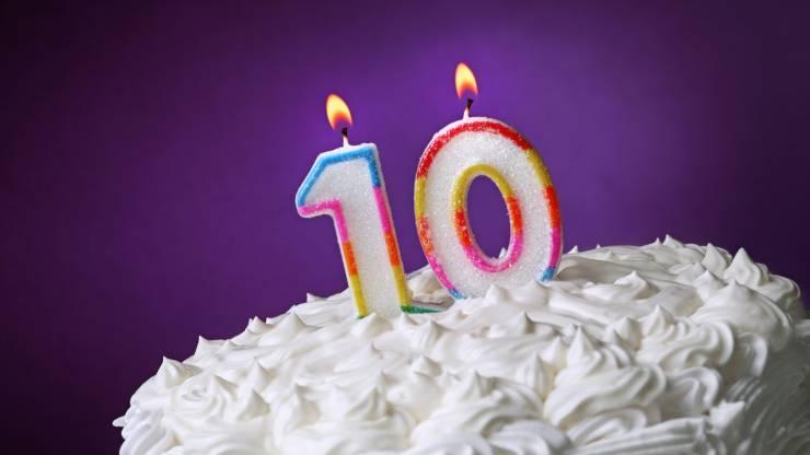 10 ans, anniversaire, gâteau