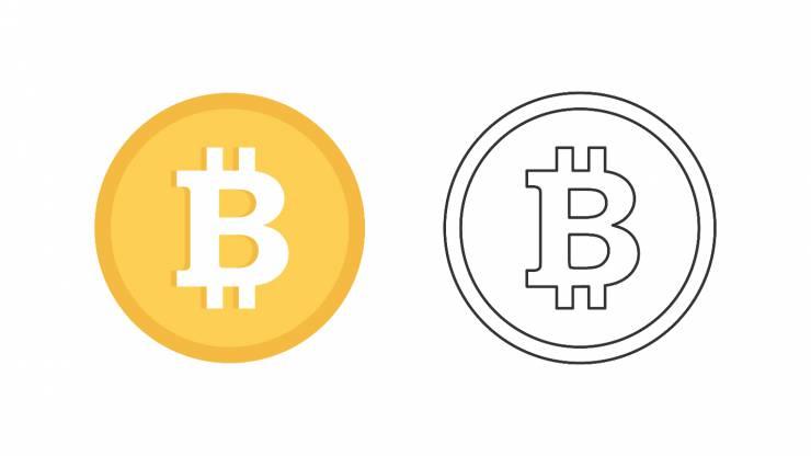 logo du bitcoin, cryptomonnaie