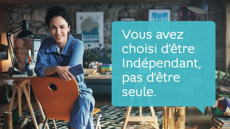 Affiche promotionnelle pour le lancement de Hello Business