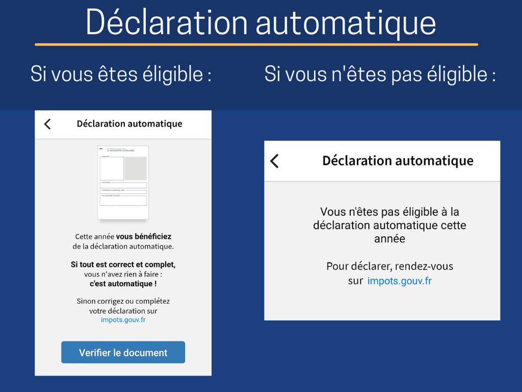 Impôts - déclaration automatique
