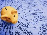 cochon tirelire sur factures