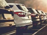Automobiles SUV garées chez un concessionnaire